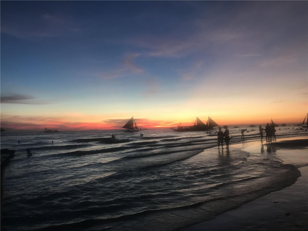 邓咏 ++晚霞如锦+菲律宾长滩岛1